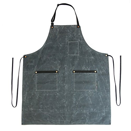 Industry Apron - Waxed Canvas - Charcoal - Made in USA by Hardmill