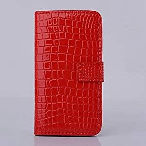 JOE Fashion Crocodile Pattern Leather Phone Shell Cover for iPhone 6 Plus(Assorted Colors) , Rose