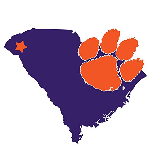 Clemson Magnet - Siskiyou NCAA Clemson Tigers Home State Magnet, 11