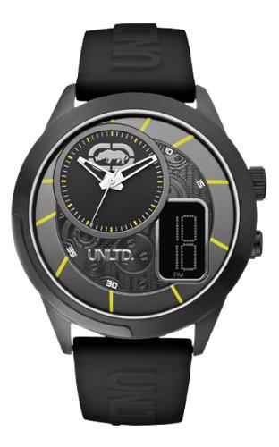 Marc Ecko E14545G2 - Reloj analógico y digital de cuarzo para hombre con correa de silicona, color negro: Marc Ecko: Amazon.es: Relojes
