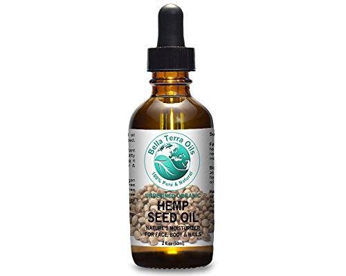Hemp Seed Oil 2 oz 100% Pure Cold-pressed Unrefined Organic - Bella Terra Oils