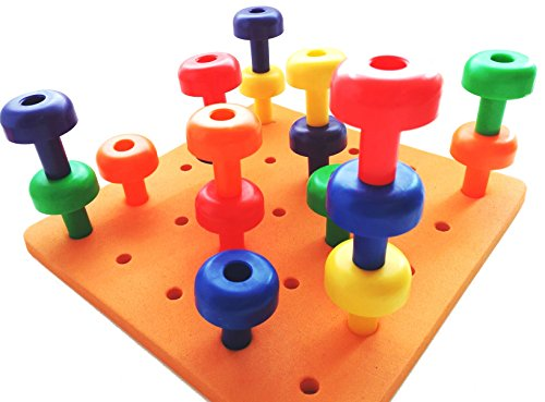 Baby Peg Toys : Skoolzy peg board set montessori occupational therapy
