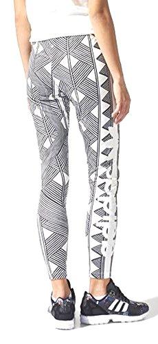 Adidas Originals Women Mexkumrex Firebird Trefoil Leggings Large Black-White