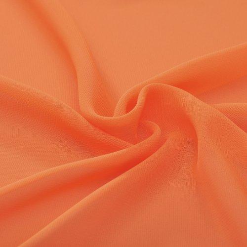 Sangles Natrual Col V En Mousseline De Soie Ligne Tangerine Robe De Demoiselle D'honneur Longue