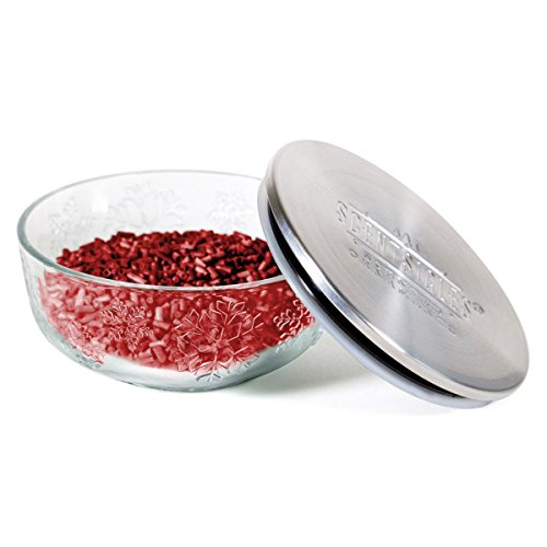 Scentsicles, Snow Berry Wreath Table Ornament Fragrance Infused Pellets, Glass Bowl