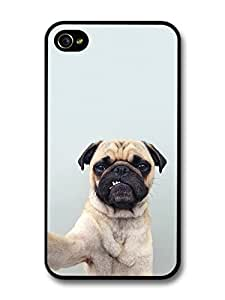 Funny Cute Selfie Pug For Ipod Touch 5 Case Cover