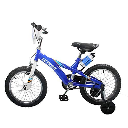 HAPTOO Toddler Bike for Girls Boys with Training Wheels for 4-6 Years Old, Kid Bicycle, Blue (Training Wheels For Toddler Bike)