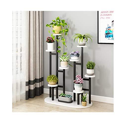 HU Flower Frame Multi-Storey Indoor Living Room Drop Subway Art Green Orchid Flower Pot Rack Balcony Flower Stand 120X90X40X100cm (Color : Black Frame+White Board) - Orchid Drop Pendant