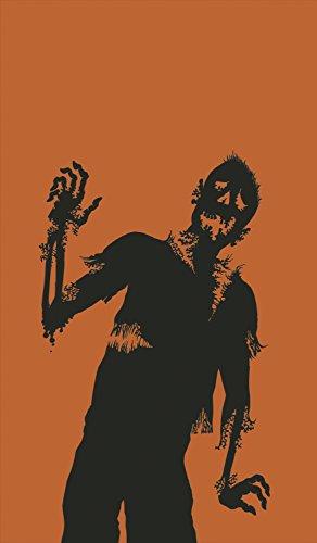 WOWindow Posters Zombie Silhouette Halloween Window Decoration 34.5