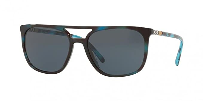f8fa5795c085 Amazon.com  Burberry Men s BE4257 Sunglasses Blue Havana Grey 57mm ...
