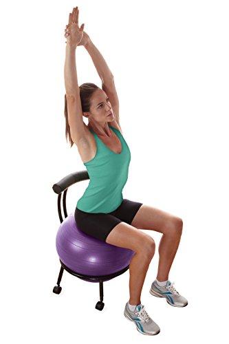 Gaiam Adjustable Custom Fit Balance Ball Chair Stability