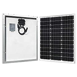 HQST 50 Watt 12 Volt Monocrystalline Solar Panel for RV/Boat/Other Off Grid Applications(50W Compact Design)