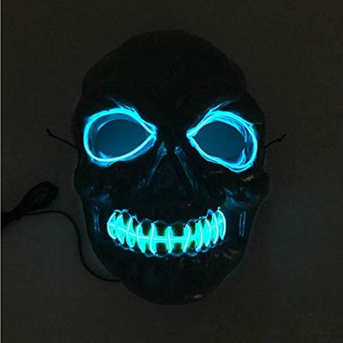 Halloween Hot Sale!!Kacowpper Skeleton Mask LED Masks Glow Scary Mask Light Up Cosplay Mask ()
