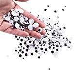 Mini Wiggle Eyes Black Small Plastic Round Moving Googly Eyes for Children School Classroom Arts & Crafts Models (500 Eyes)
