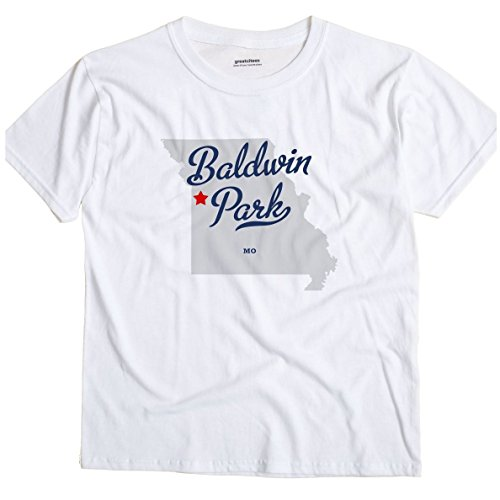 Baldwin Park Missouri MO MAP GreatCitees Unisex Souvenir T Shirt