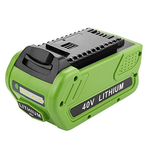 LLJEkieee Powilling 40V 2500mAh / 5000mAh Replacement Lithium Battery for GreenWorks 29472 29462 Battery GreenWorks 40V G-MAX Power Tools 29252 20202 22262 (5000mAh)