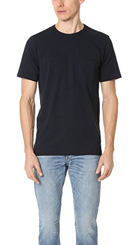 Rag & Bone Standard Issue Men's Standard Issue Pocket Tee, Navy, Large from Rag & Bone Standard Issue