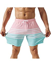Mens Quick Dry Solid 4 Way Stretch Swim Trunks Mesh Lining Swimwear Bathing Suits 281118513