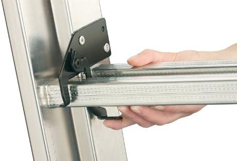 Hailo ProfiStep-Duo - Escalera industrial 2 tramos de aluminio (2 x 9 peldaños): Amazon.es: Bricolaje y herramientas