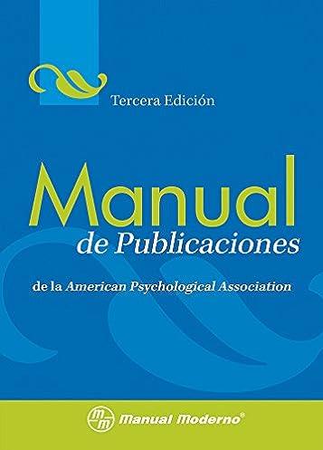 amazon com manual de publicaciones de la american psychological rh amazon com APA Manuscript Format APA Manuscript Format