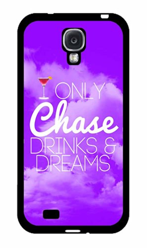 Chase Dreams and Drinks Plastic Phone Case Back Cover Samsung Galaxy S4 I9500 comes with Security Tag and MyPhone Designs(TM) Cleaning Cloth Shrimp Tequila
