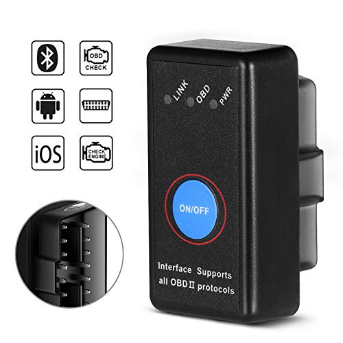 SAVFY Bluetooth OBD2 Scanner Car Code Reader Equal to ELM327 OBDII Adapter Diagnostic-Tool Car Engine Code Reader Tester for iOS & Android