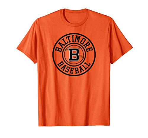 - Baltimore Baseball |  Vintage Oriole Retro Badge Gift T-Shirt