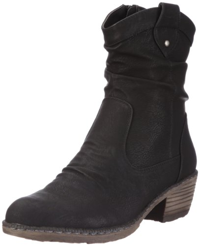 Noir Femme noir Santiags V 93770 6 Rieker wgqPxtc