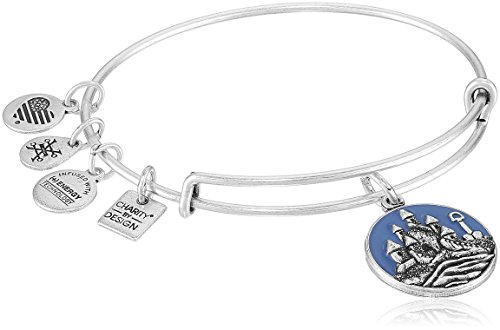 Alex and Ani Charity By Design, Sand Castle EWB Rafaelian Silver Bangle Bracelet by Alex and Ani