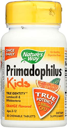 (Nature's Way (NOT A CASE) Primadophilus Kids Orange Chewables Ages 2-12, 30)