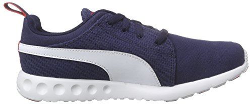 Puma Carson Runner CV, Chaussures de Course Mixte Adulte Bleu - Blau (peacoat-white-high risk red 06)