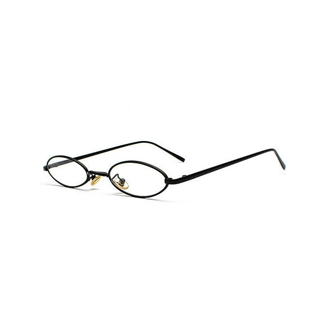 Amazon.com: Mincl/punk - Gafas de sol pequeñas ovaladas con ...
