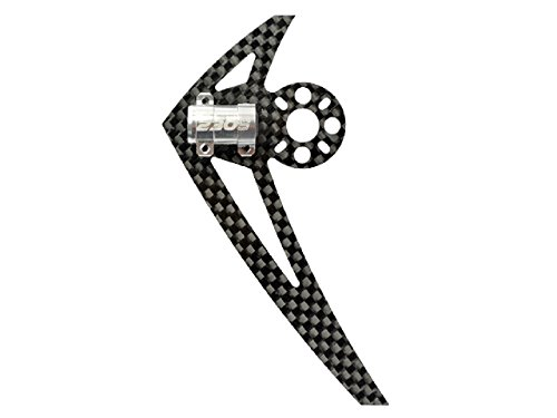 "Microheli AL/Carbon Fiber Light Weight Tail Motor Mount w/ Fin ""G"" set - BLADE 200 S / 230S / 250CFX"