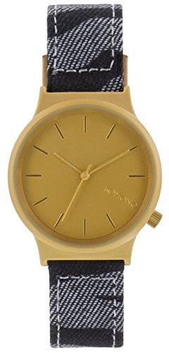Komono MOKOPRINT-000DZ - Reloj analógico de cuarzo unisex con correa de tela, color negro: Amazon.es: Relojes