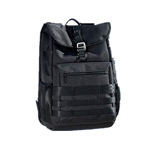 Men's Backpack Large Capacity Leisure Travel Bag Laptop Multi-Function Backpack(Black 12.6×7.1×16.5 (in))