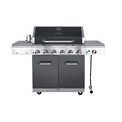 Deluxe 6-Burner Gas Grill with Searing Side Burner in Slate ()