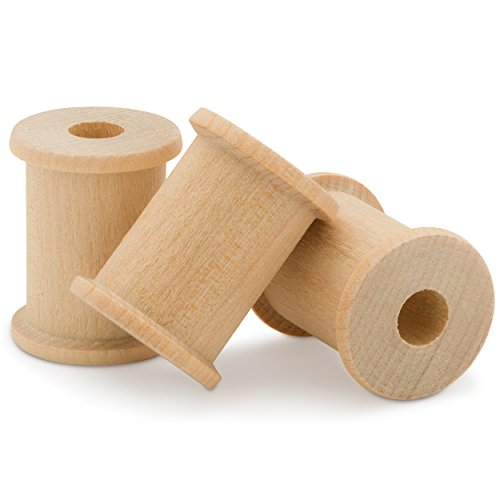 Wooden Spools Unfinished 1-1/8