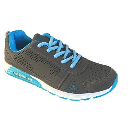Magnus- Herren Sportschuhe Sneaker Freizeit - Schuhe - Größe 40-45 Neu Grau / Hell Blau