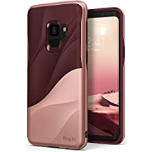Galaxy S9 Case Ringke [WAVE] [Rose Blush] Dual Layer Heavy Duty 3D Textured Shock Absorbent PC TPU Full Body Drop Resistant Protection Modern Design Cover for Samsung Galaxy S9 (2018)