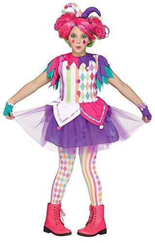 Fun World Big Girl's Rainbow Harlequin Teen Halloween Costume Childrens Costume, Multi, Extra Large ()