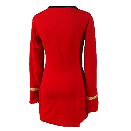 Ya-cos Cosplay Female Captain Officer Duty Dress Cosplay Costume Red