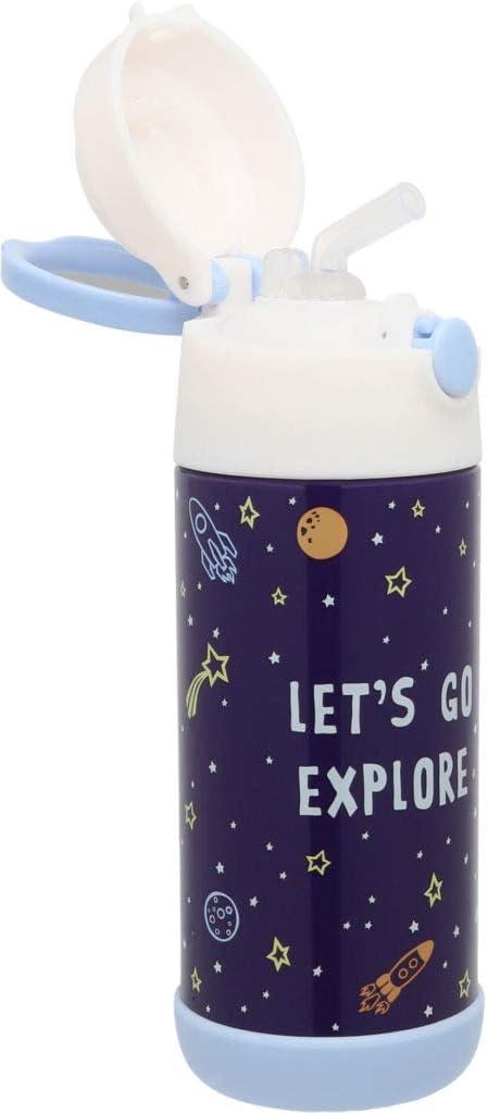 Snug Gourde Thermos Isotherme pour Enfant avec Paille Licorne
