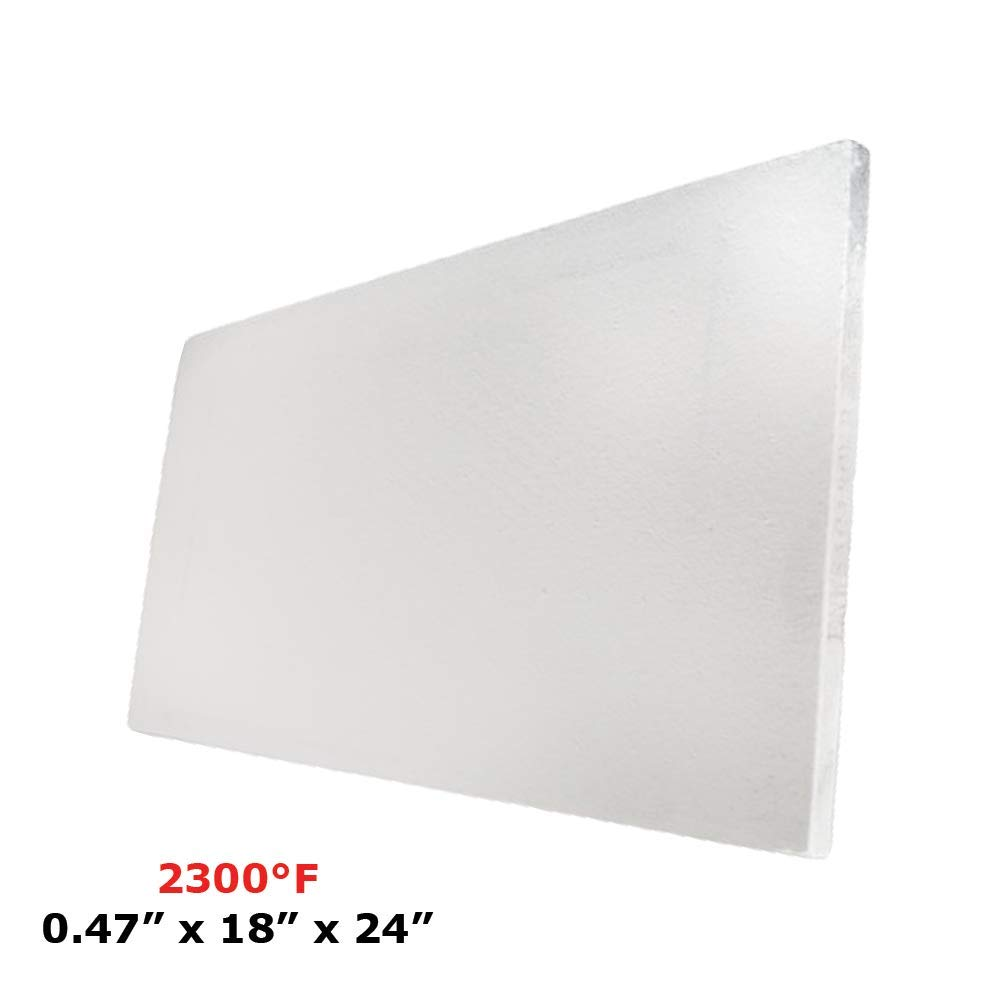 Ceramic Fiber Insulation Board 2300 F 0.47 X 18 X 24 for Thermal Insulation in Wood Stoves, Fireplaces, Pizza Ovens, Kilns, Forges & More. Spectra Overseas