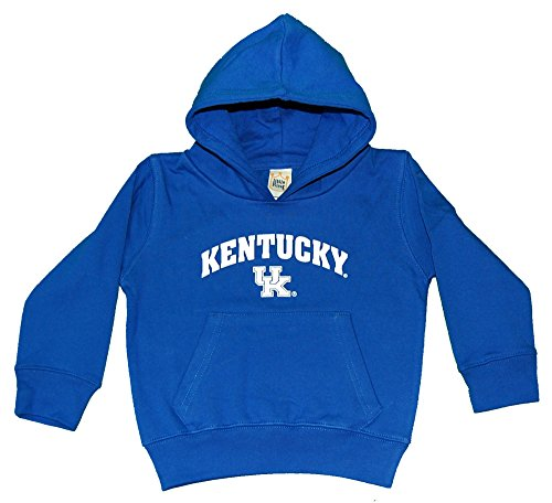 NCAA Kentucky Wildcats Hooded Fleece Top, 4T, Royal