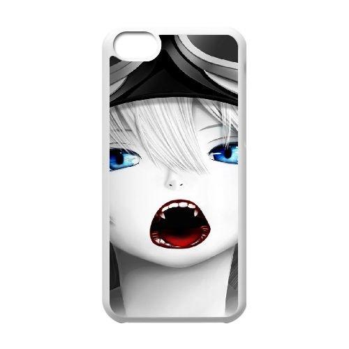 W1E22 Amine filles N5R1FU cas d'coque iPhone de téléphone cellulaire 5c couvercle coque blanche DG1BBD2SU