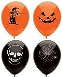MunchieMoosKids 15 Assorted Halloween Balloons / 23cm / Halloween Trick Or Treat Scary Party Fun