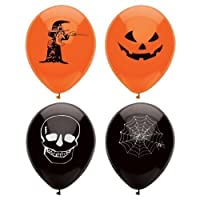MunchieMoosKids 15 Assorted Halloween Balloons / 23cm / Halloween Trick Or Treat Scary Party Fun