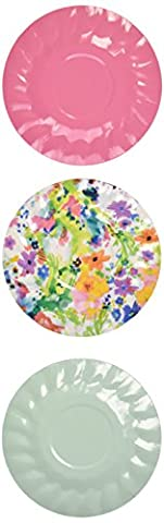 Talking Tables Tropical Party Mini Canape Plates, 12 count, for a BBQ, Luau, or Summer Party - Fiesta Table