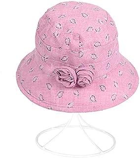 XINXI Home Printemps et été Nouveau Chapeau de Chapeau de pêcheur d'âge Moyen Chapeau de pêcheur de Chapeau de Dame Chapeau de Soleil Printemps et d'été (Color : Grey)
