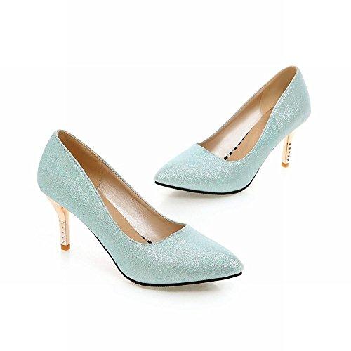 Latasa Dames Elegante Punt-teen Stiletto Hoge Hak Jurk Pumps Schoenen Lichtblauw